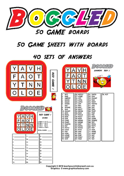 Boggle Word Games