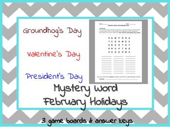 Boggle Word Games: February Pack (Valentine's, President's, and Groundhog's Day)