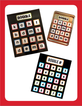 Boggle (Word Work & Math/Number) Complete Mega Bundle (40 Weeks Covered!)
