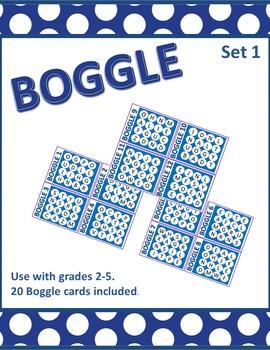 Boggle Word Work-Set 1