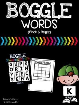 Black & Bright BOGGLE Words