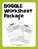 Boggle Worksheet Package (40 Weekly Worksheets with Manipu