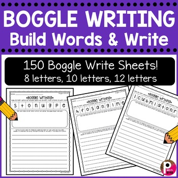Creative Writing Boggle Boards