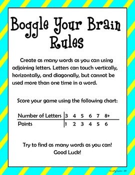Boggle Your Brain - 40 weeks!