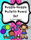 Boggle and Noggle Bulletin Board Set w/ Recording Sheets - Bright Quatrefoil