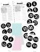 Boggle and Noggle Bulletin Board Set w/ Recording Sheets - Light Polka Dots