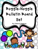Boggle and Noggle Bulletin Board Set w/ Recording Sheets - Light Polka Dots