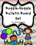 Boggle and Noggle Bulletin Board Set w/ Recording Sheets - Pretty Chevron