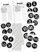 Boggle and Noggle Bulletin Board Set w/ Recording Sheets - Pretty Diag Stripes