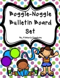 Boggle and Noggle Bulletin Board Set w/ Recording Sheets - Pretty Polka Dots