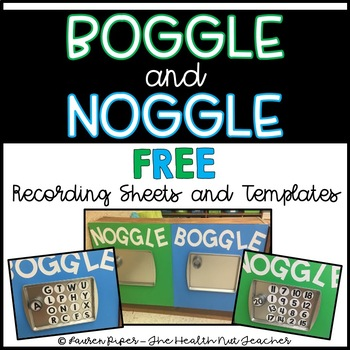 Boggle and Noggle Recording Sheets and Templates