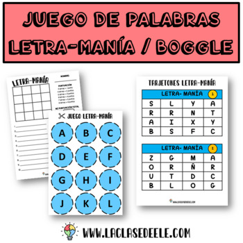 Boggle game for Spanish class (Juego Letra-Mania)