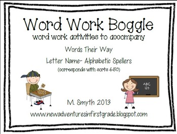 Boggle inspired by Words Their Way Letter Name- Alphabetic