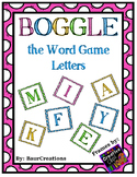 Boggle the Word Game Letters