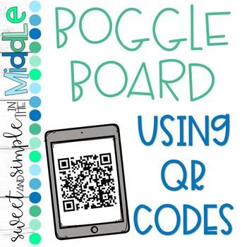 Boggle using QR Codes