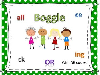 Boggle with QR codes