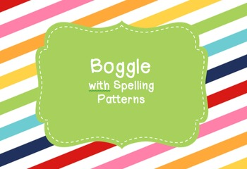 Boggle with Spelling Patterns