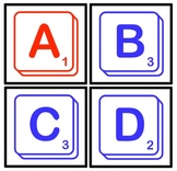 Boggle/Scrabble Letters For Bulletin Board Game