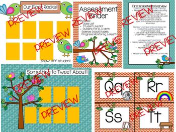 Bohemian Bird Classroom Decor and Class Management Bundle