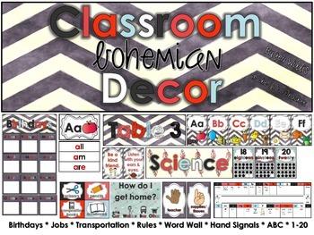Bohemian Classroom Decor