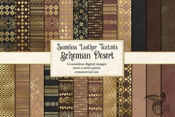Bohemian Desert - seamless gold digital paper backgrounds