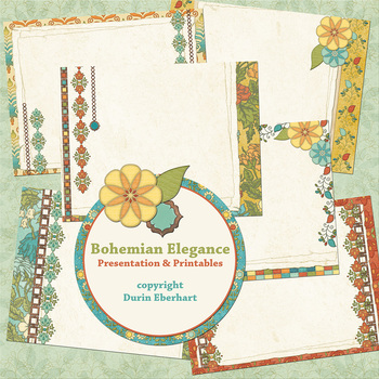 Bohemian Elegance PowerPoint Presentation and Digital Printable Files