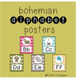 Bohemian Feather Alphabet Posters