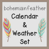 Bohemian Feather Calendar and Weather Set