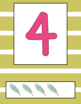 Bohemian Feather Number Posters (0-20)