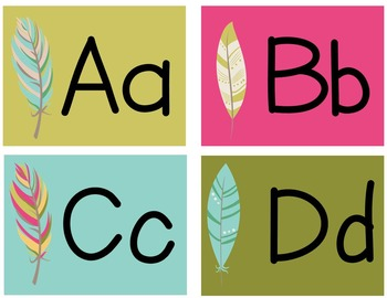 Bohemian Feather Word Family Headers