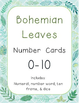 Bohemian Leaves Number Posters