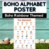 Boho Alphabet Poster - Boho Rainbow Alphabet Chart - Class