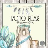 Boho Bear Tribal Classroom Decor Set