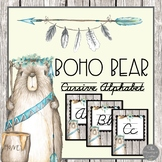 Boho Bear Tribal Theme Cursive Alphabet Posters