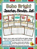 Boho Bright Editable Teacher Binder/Calendar Set