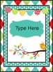 Boho Bright Editable Teacher Binder/Calendar Set