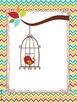 Boho Bird Binder Pages *editable*