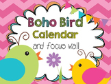 Boho Bird Calendar
