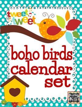 Boho Bird Calendar Set