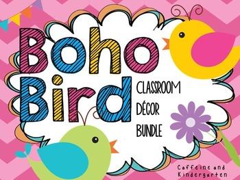 Boho Bird Classroom Decor Bundle