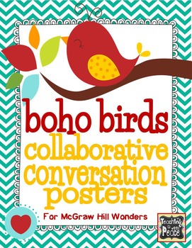 Boho Bird Collaborative Conversation Posters
