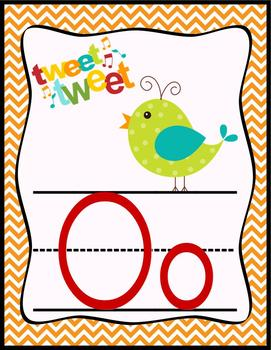 Boho Bird Print Alphabet Posters