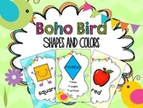 Boho Bird Shapes and Colors