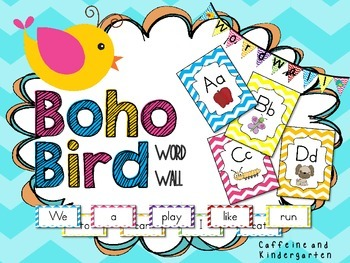 Boho Bird Themed Word Wall