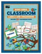 Boho Birds Classroom Labels and Organizers