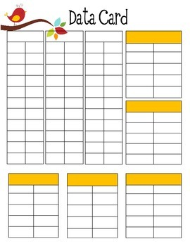 Boho Birds Data Cards
