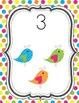 Boho Birds Number Line 1-20