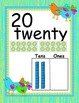 Boho Birds Number Posters with Ten Grids and Base Ten Blocks