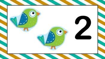 Boho Birds Numbers 1 - 10