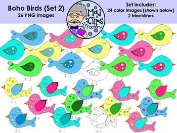 Boho Birds {Set 2}